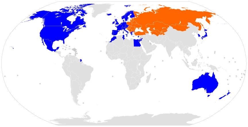 Κόσμος - οι δανείστριες χώρες της τράπεζας EBRD, καθώς επίσης οι δανειζόμενες