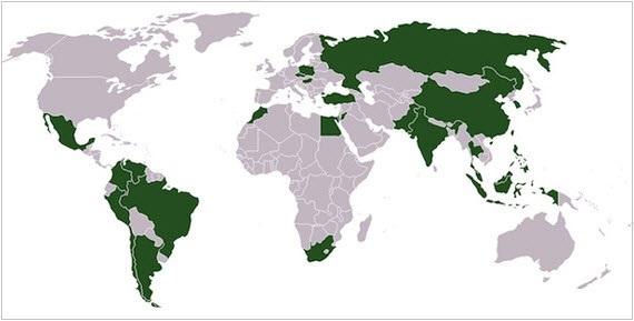 Κόσμος – οι χώρες που έχουν ενσωματωθεί στον «δεύτερο οικονομικό κόσμο».