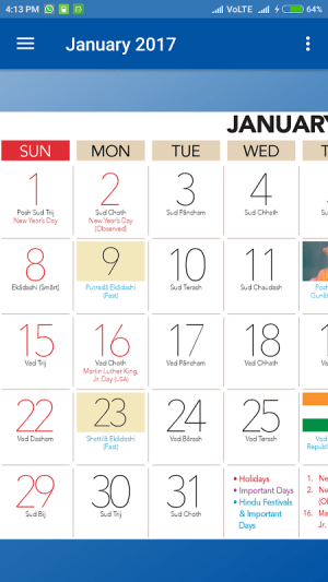 Calendar 2017 (Monthly) 1.1 Screen 3