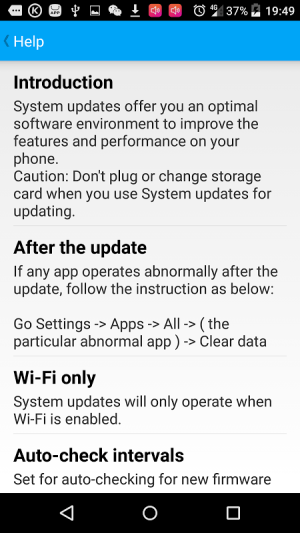 Android System Update Screen 1