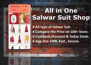Salwar Suit Online Shopping Flipkart Amazon 1.0 Screen 1