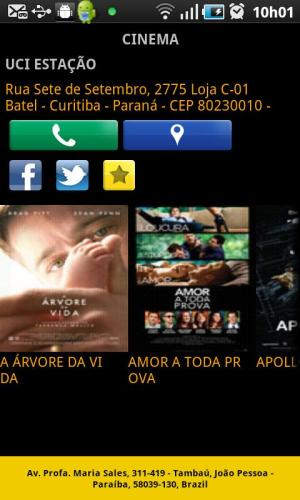 Android UCI CINEMAS BRASIL Screen 3