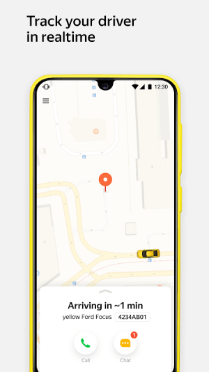 Android Yandex.Taxi Ride-Hailing Service. Book a car. Screen 2