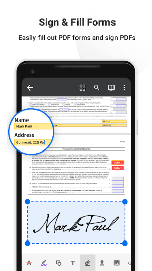 Android PDF Reader Pro - Annotate, Edit, Fill Forms & Sign Screen 5