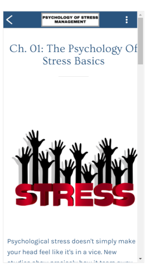 Psychology of Stress Management 1.0 Screen 6