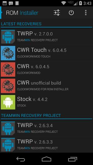 ROM Installer 1.3.4.0 Screen 2
