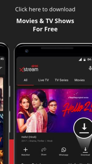 Airtel Xstream: Live TV, Movies, TV Shows, Films 1.36.1 Screen 2