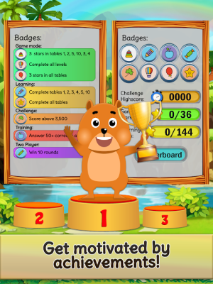 Android Times Tables Games: KS2 Multiplication to 20x20! Screen 8