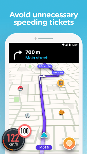 Waze - GPS, Maps, Traffic Alerts & Sat Nav 4.51.0.4 Screen 1