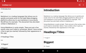 Simple Markdown 0.4.3 Screen 6