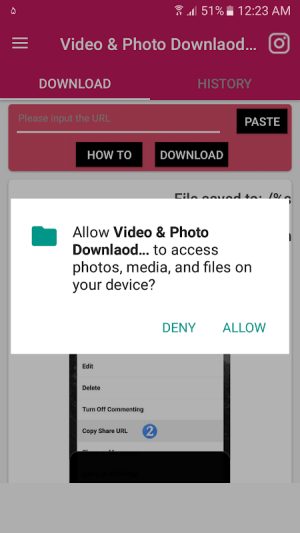 Android Video , Photo Downlaod for Instagram (without login) Screen 1