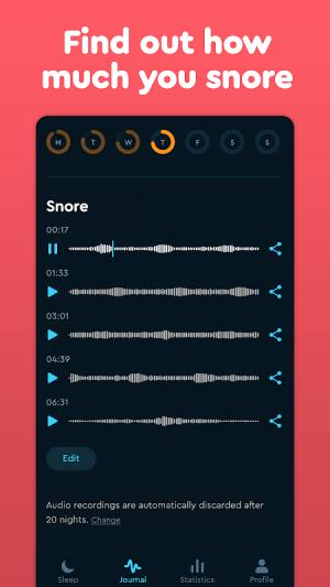 Sleep Cycle: Sleep analysis & Smart alarm clock 3.9.1.4456-release Screen 6