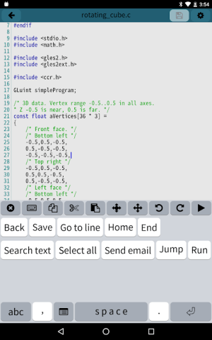 Android Mobile C [ C/C++ Compiler ] Screen 8