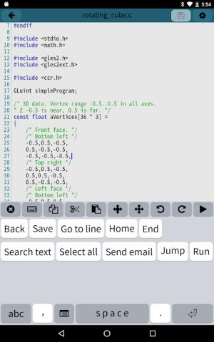 Mobile C [ C/C++ Compiler ] 2.5.1 Screen 8