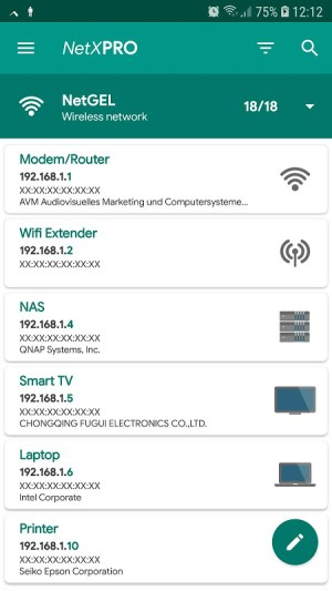 Android NetX Network Tools Screen 5
