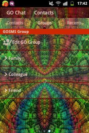 Android GO SMS PRO Theme Magic Mosaic Screen 2