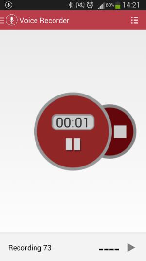 Voice Recorder 3.08 Screen 1