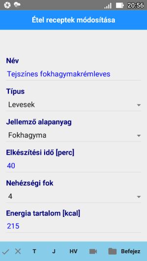 Android Étel Recept Nyilvántartó Screen 4