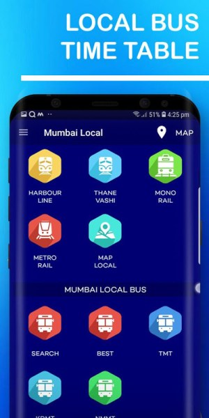 Mumbai Local Train Route Map & Timetable 1.37 Screen 1