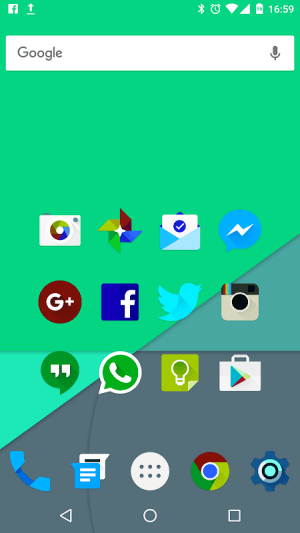 Android Iride UI is Dark - Icon Pack Screen 2