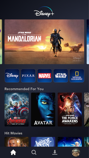 Android Disney+ Screen 7