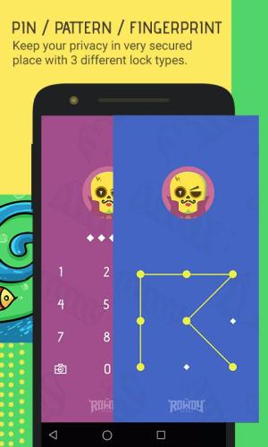 Android Skullock Photo vault: Lock private photos & videos Screen 1