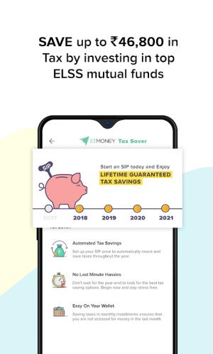 Mutual Funds, SIP, Loan, Credit, Expenses: ETMONEY 3.1.8.7 Screen 3