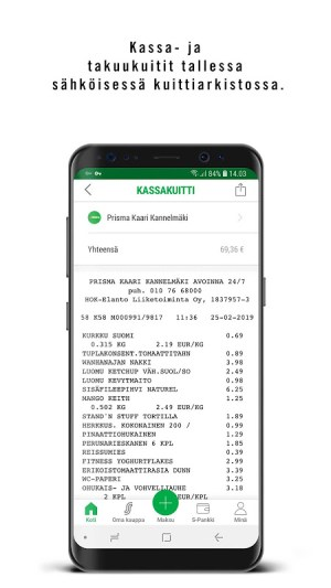 S-mobiili 2.5.0 Screen 1