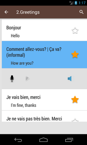 French Phrase book 3.0.0 Screen 2