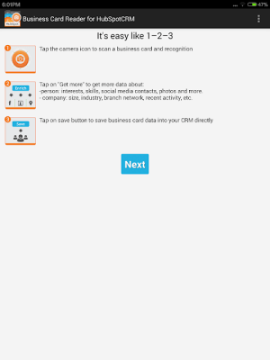 Android Business Card Reader for HubSpot CRM Screen 8
