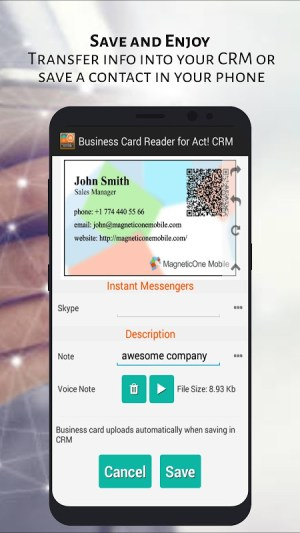 Act! CRM Business Card Reader 1.1.145c Screen 7