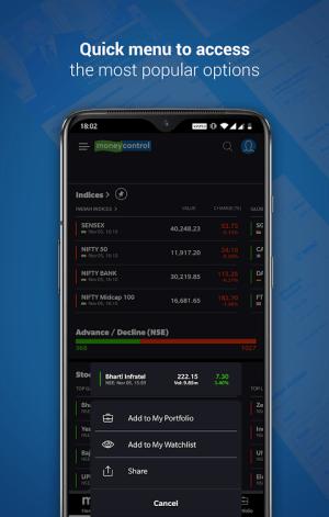 Moneycontrol - Share Market | News | Portfolio 7.0.3 Screen 5