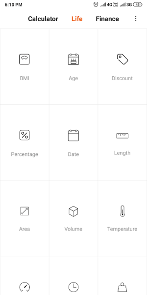 Mi Calculator 10.1.0 Screen 2