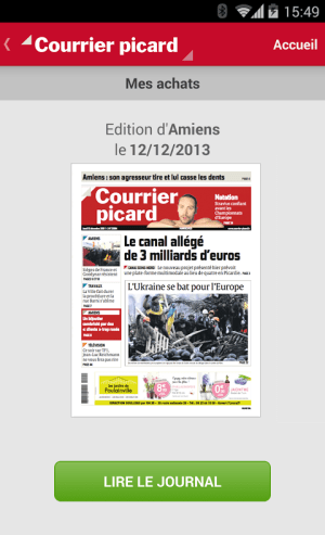 Courrier Picard 1.1.1 Screen 1
