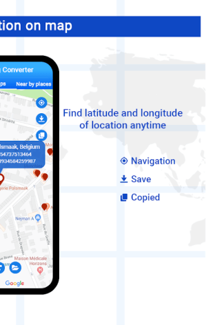 Android GPS Coordinates locator -My latitude and longitude Screen 4