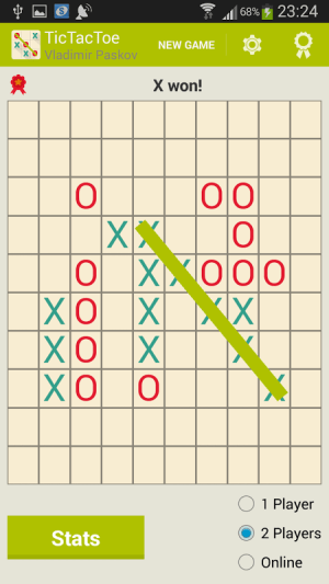Android Tic Tac Toe Screen 19
