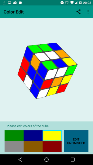 Easy Cube Solver 1.7 Screen 2
