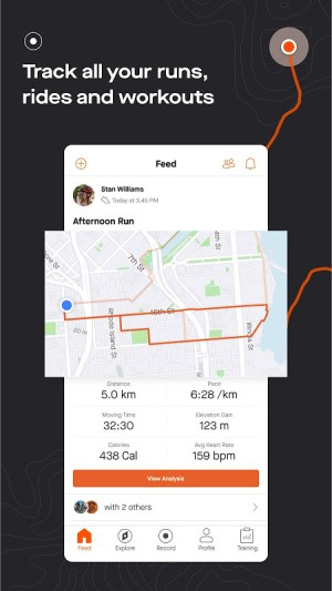 Strava tracker: Record running, cycling & swimming 166.9 Screen 3