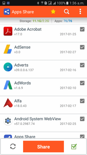 Apps Share 1.3 Screen 1