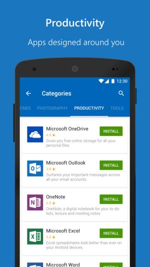 Microsoft Apps 3.0.1 Screen 1