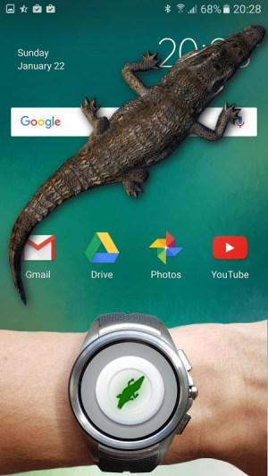 Android Crocodile in Phone Big Joke Screen 5