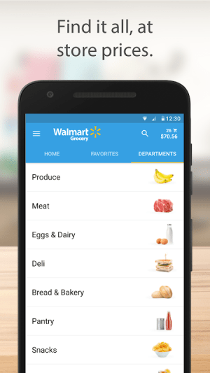 Walmart Grocery 3.7.0 Screen 2