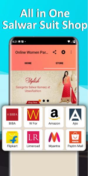 Salwar Suit Online Shopping Flipkart Amazon 1.0 Screen 2