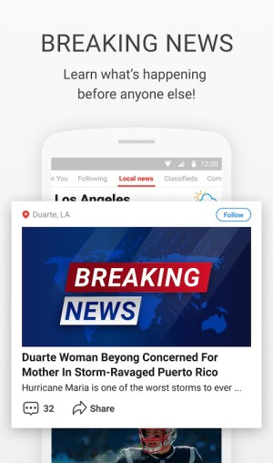 News Break:Discovering & Delivering Your Interests 8.6.2 Screen 1