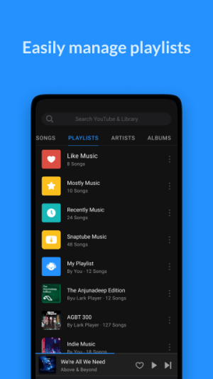 Android Lark Player - Free MP3 Music & Youtube Player Screen 2