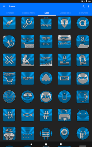 Light Blue Icon Pack Free 3.9 Screen 17
