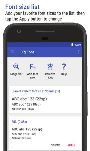 Big Font (change font size/display size) 3.21 Screen 4