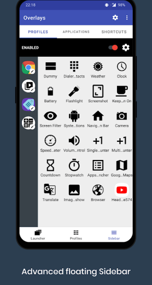 Overlays - Floating Apps Launcher 7.2.3 Screen 4