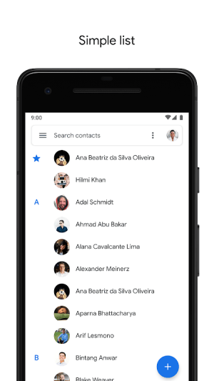 Contacts 3.13.0.281119312 Screen 2