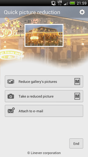 Quick picture reduction 1.0.3 Screen 1